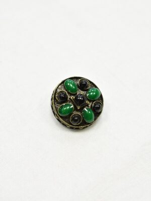 Пуговица металл античная бронза эмаль черная зеленая (p1070) - Фото 11