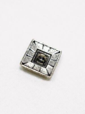 Пуговица квадратная состаренное серебро с цветными вставками (p1073) - Фото 14