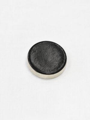 Пуговица большая никель с черной кожей (р1115) - Фото 15