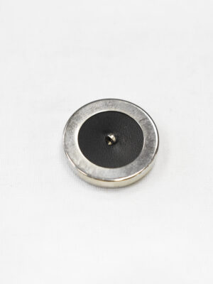 Пуговица большая никель с черной кожей (р1115) - Фото 16