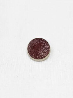 Пуговица маленькая обтянута бордовой кожей (р1122) - Фото 11