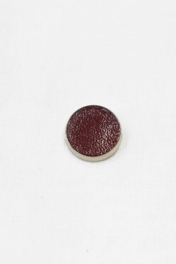 Пуговица маленькая обтянута бордовой кожей (р1122) - Фото 6