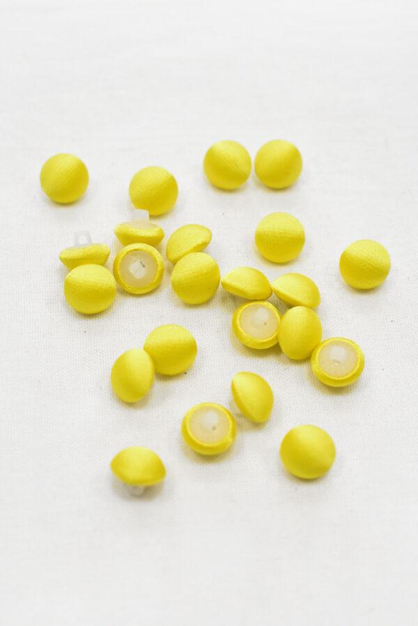 Пуговицы блузочные тканевые желтого оттенка (р1136) - Фото 8