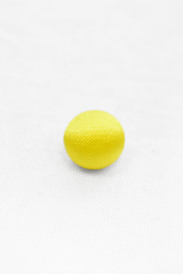 Пуговицы блузочные тканевые желтого оттенка (р1136) - Фото 6
