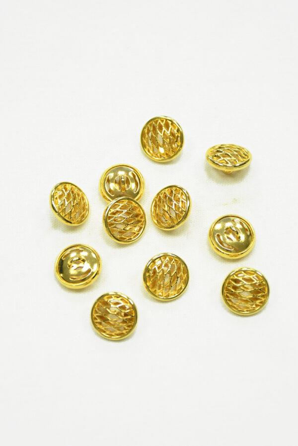 Пуговица металл золото маленькая 2