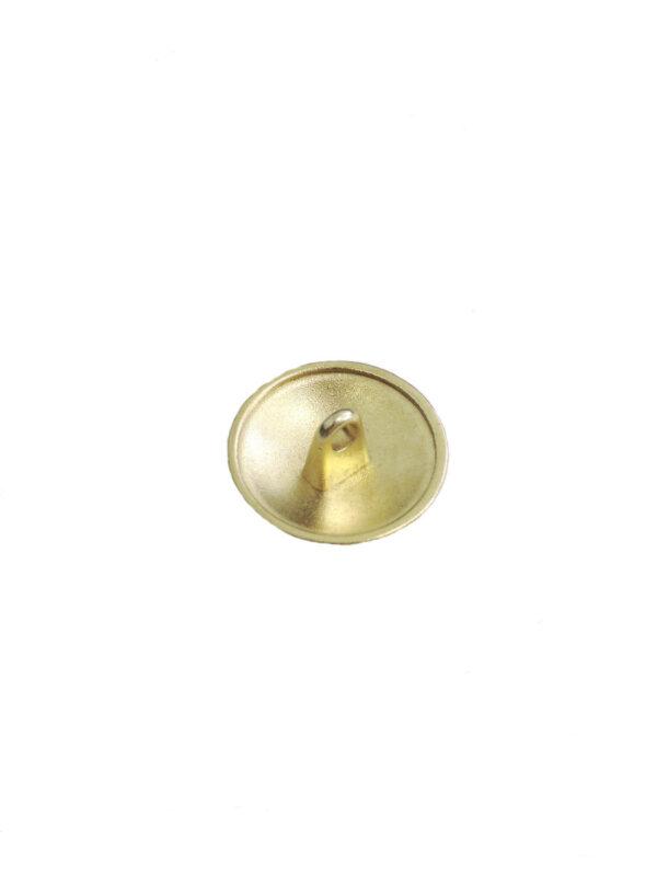 Пуговица металл золото с выбитым бантиком 1