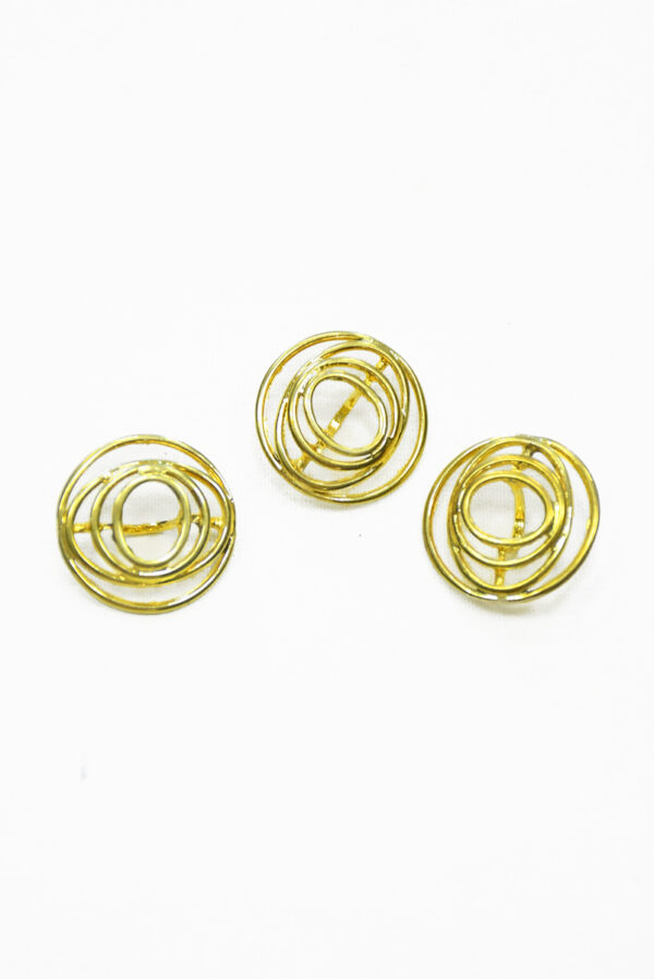 Пуговица круглая металл золото спираль 2