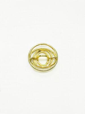 Пуговица круглая металл золото спираль 1