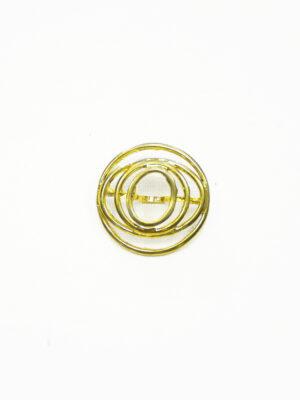 Пуговица круглая металл золото спираль