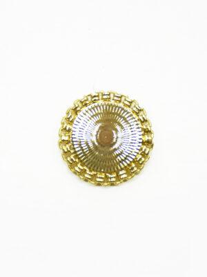 Пуговица большая металлическая золотая с каемкой