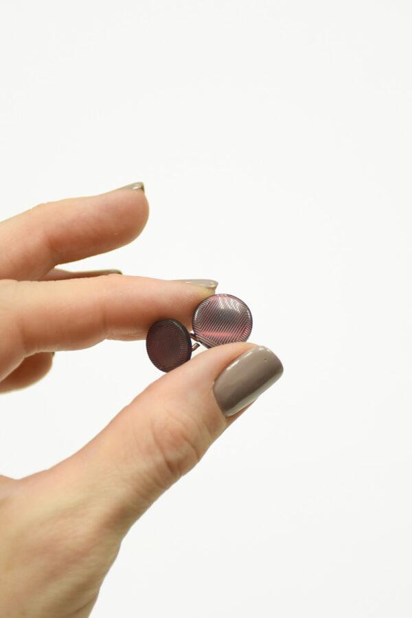 Пуговица двойная пластик маленькая круглая гранат 3