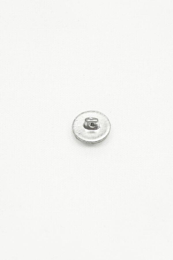 Пуговица маленькая металл серебро с трилистником 2