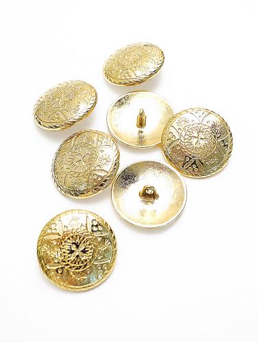 Пуговица металлическая круглая большая золотого цвета 2