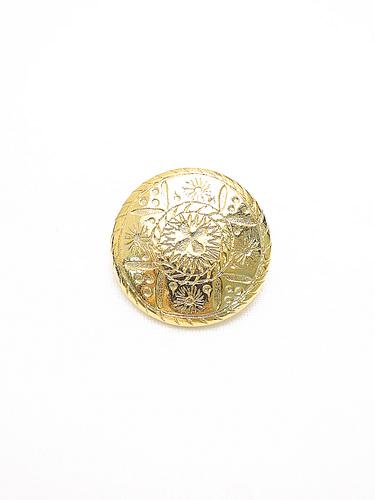 Пуговица металлическая круглая большая золотого цвета