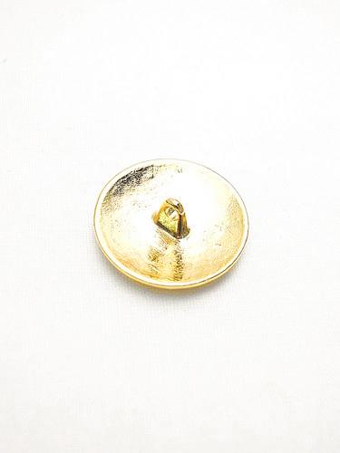 Пуговица металлическая круглая большая золотого цвета 1