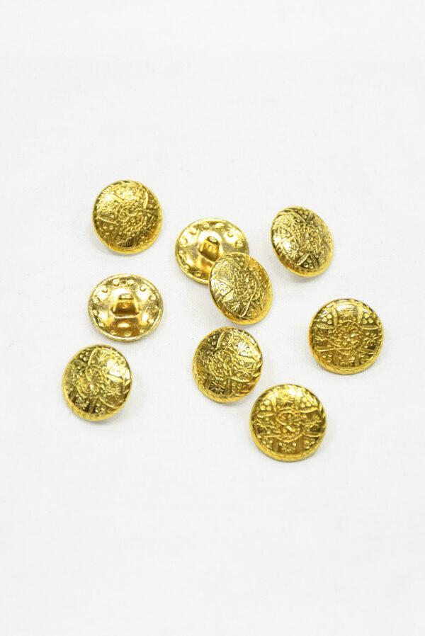Пуговица маленькая металл золото с рисунком 2
