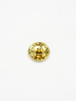 Пуговица маленькая металл золото с рисунком 1