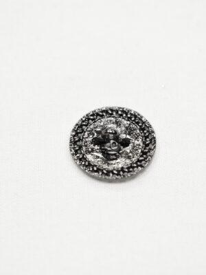 Пуговица блек никель ажурная с черной эмалью (р1052) - Фото 14