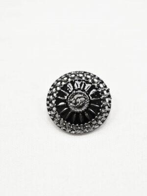 Пуговица блек никель ажурная с черной эмалью (р1052) - Фото 13