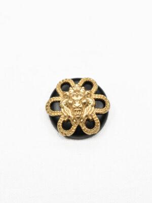 Пуговица металл черная матовая с головой льва (р1060) - Фото 15