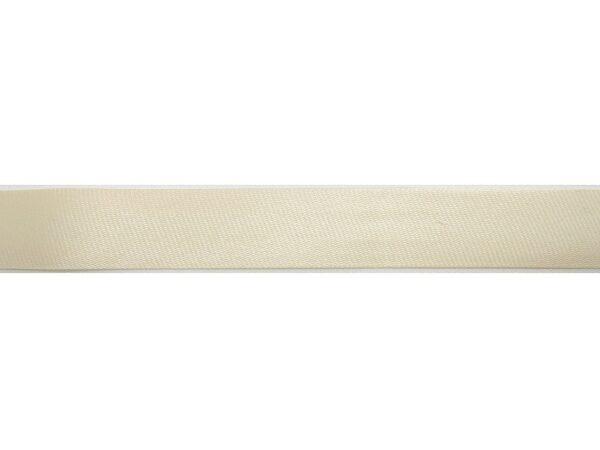 Косая бейка кремовая атласная (t0042) т-8 - Фото 6