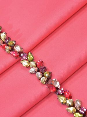 Тесьма разноцветные камни стразы на металлической основе (t0283) К-11 - Фото 14