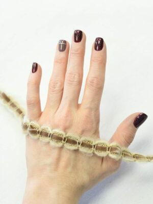 Тесьма шерстяная с велюровой вставкой коричневая (t0337) К-8 - Фото 16
