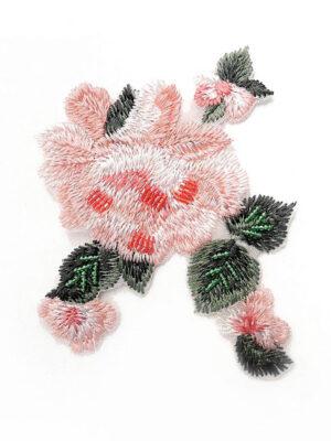 Аппликация розовый цветок вышивка бисер (t0447) А-1 - Фото 12