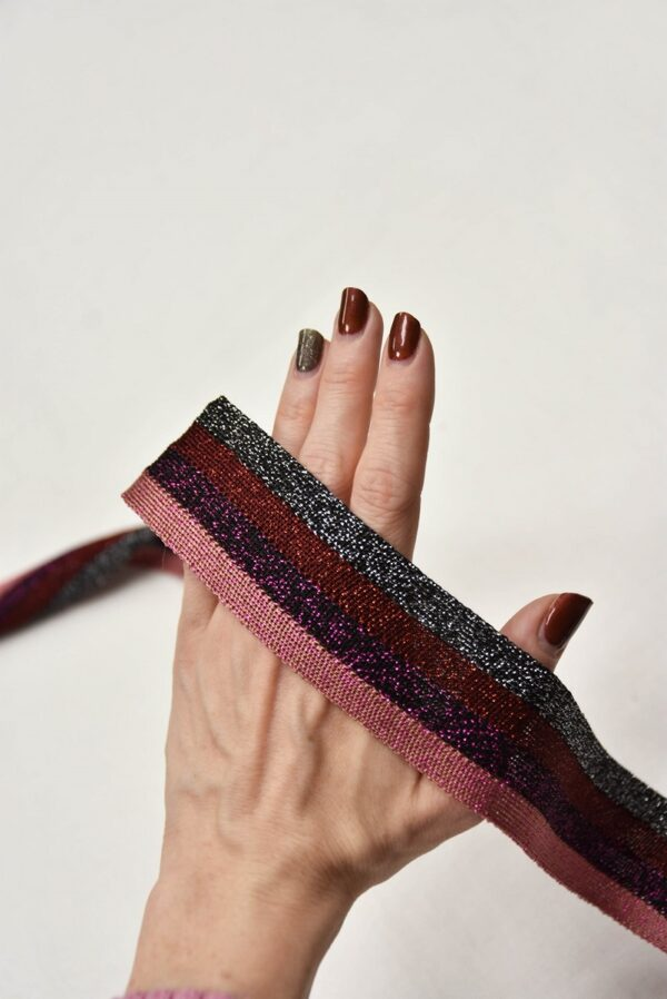 Лампасы в полоску серый бордо фиолет розовый (t0671) т-1 - Фото 8