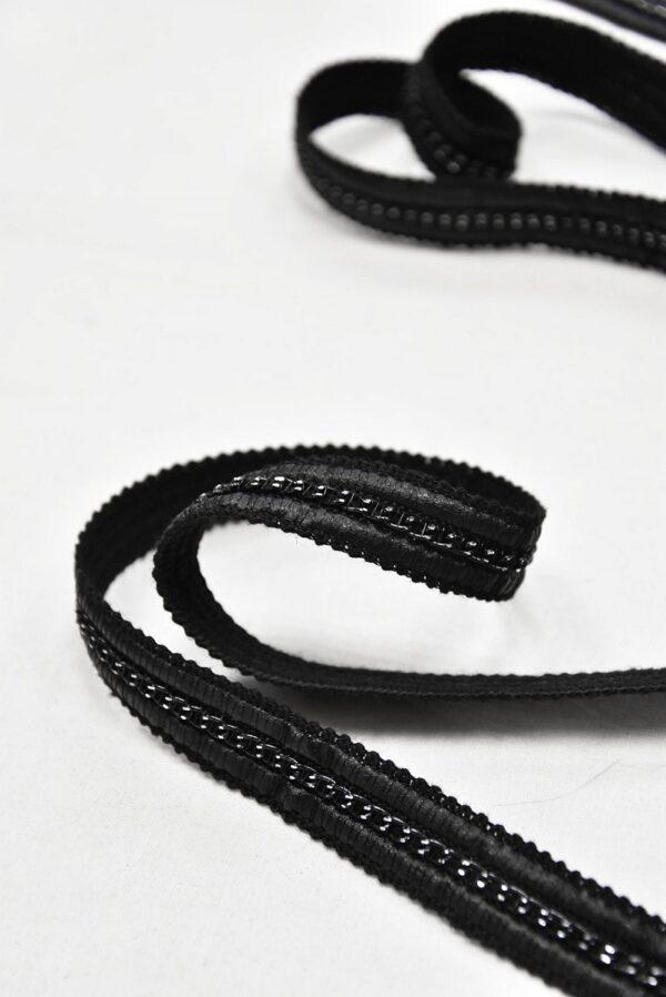 Тесьма с кожаными вставками и цепочкой (t0593) т-8 - Фото 7