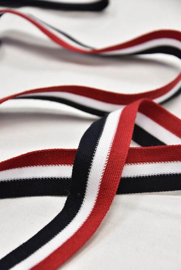 Лампасы в красную черную и белую полоску (t0611) т-1 - Фото 7