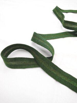 Лампасы зеленые с люрексом (t0643) т-1 - Фото 11