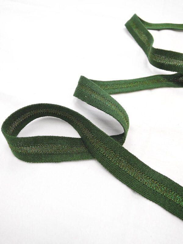 Лампасы зеленые с люрексом (t0643) т-1 - Фото 7