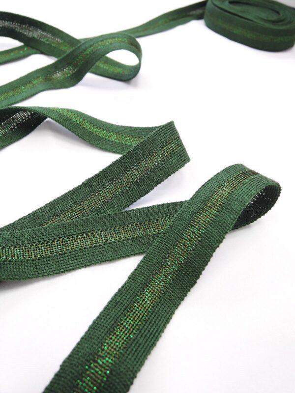 Лампасы зеленые с люрексом (t0643) т-1 - Фото 8