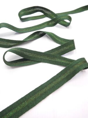 Лампасы зеленые с люрексом (t0643) т-1 - Фото 10