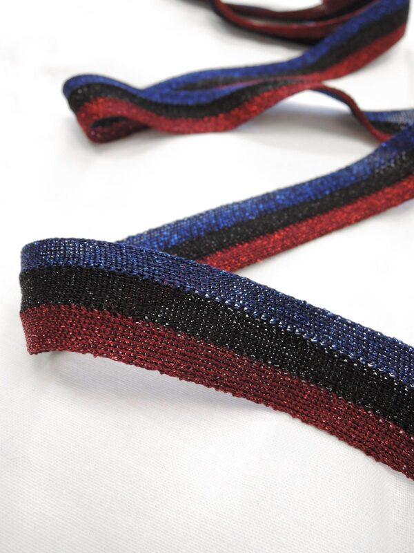 Лампасы с синюю бордовую и черную полоску (t0647) т-1 - Фото 7