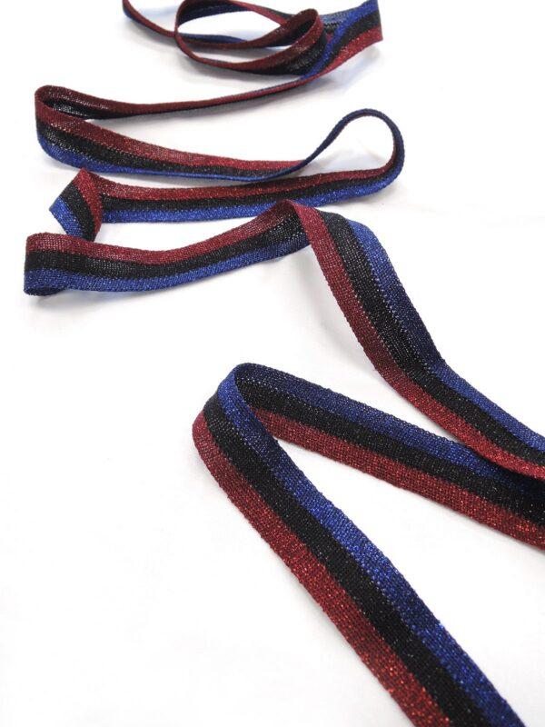 Лампасы с синюю бордовую и черную полоску (t0647) т-1 - Фото 6