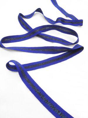 Лампасы синий элекстрик в полоску с люрексом (t0656) т-1 - Фото 11