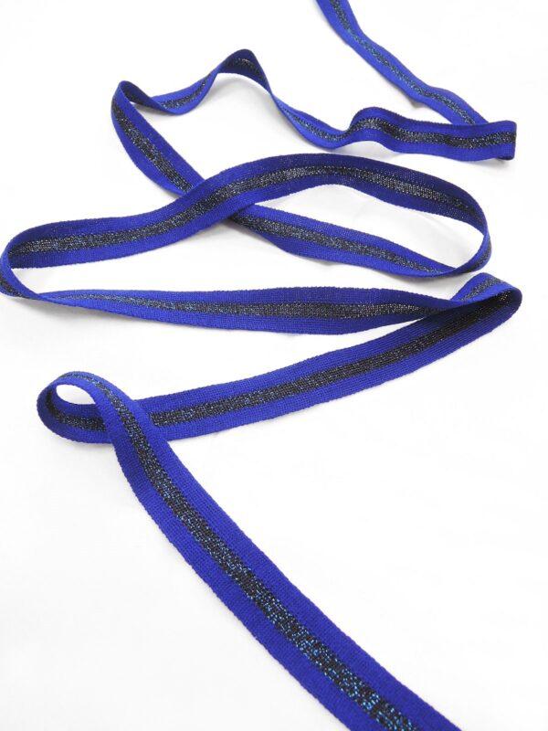 Лампасы синий элекстрик в полоску с люрексом (t0656) т-1 - Фото 6