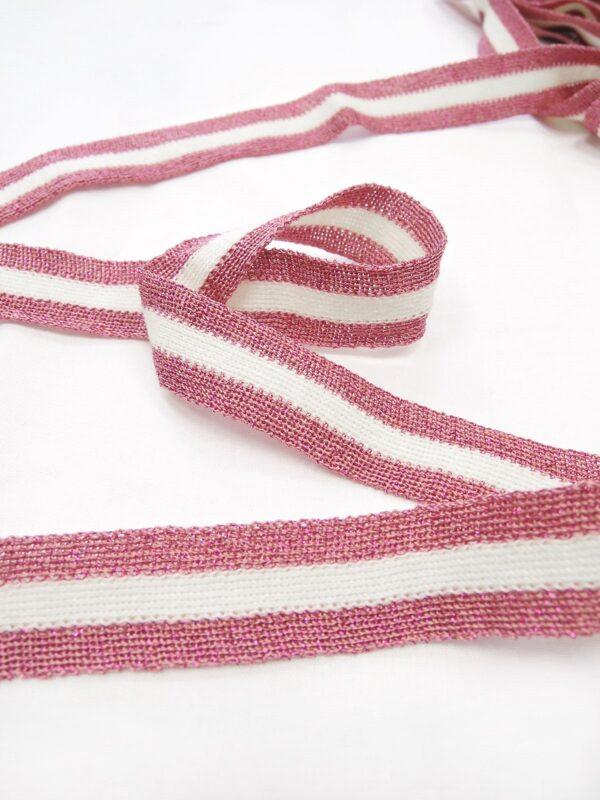 Лампасы в белую и розовую полоску (t0659) т-1 - Фото 7