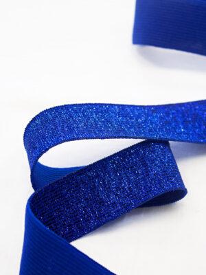 Резинка ярко-синяя с люрексом 1