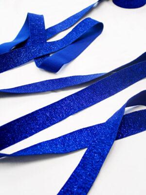 Резинка ярко-синяя с люрексом