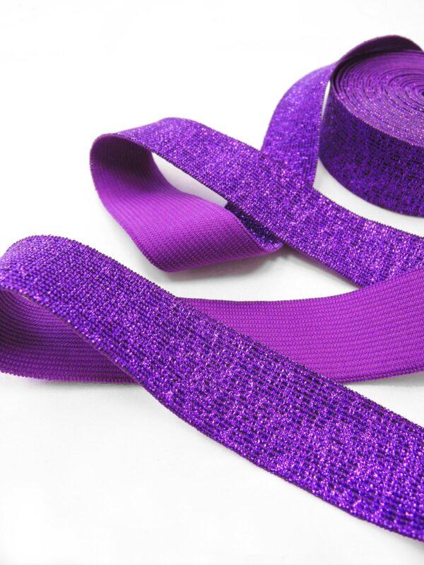 Резинка фиолетовая с люрексом (t0669) т-17 - Фото 7