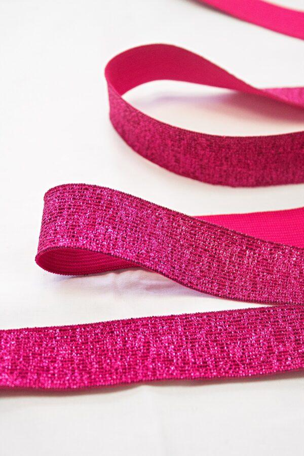 Резинка розовая с люрексом (t0670) т-17 - Фото 7