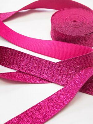 Подвязы резинка розовый оттенок люрексом (t0670) - Фото 9
