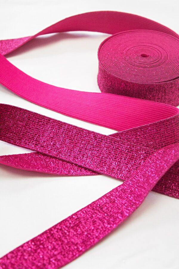 Резинка розовая с люрексом (t0670) т-17 - Фото 6