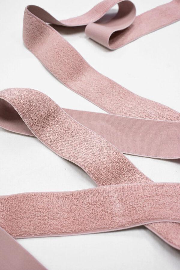 Резинка розовая с ворсом