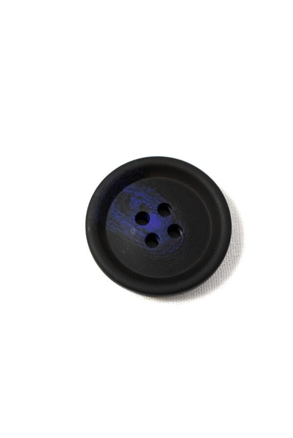 Пуговица пластик черная с синим вкраплением (р1198) - Фото 6
