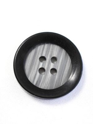 Пуговица большая пластик серого цвета с черным ободком (р1204) - Фото 10