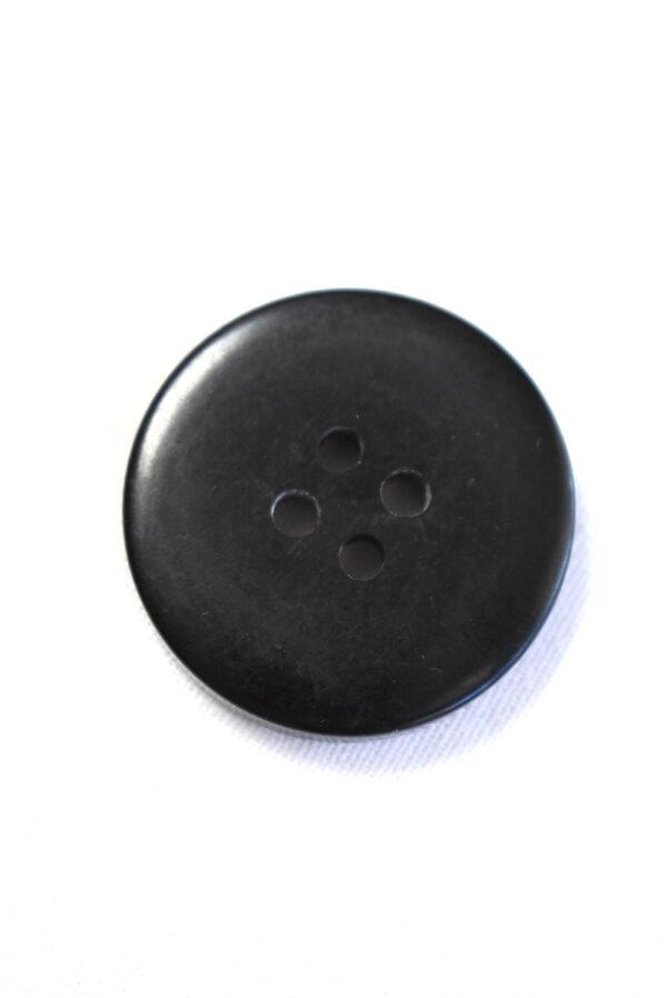 Пуговица большая пластик серого цвета с черным ободком (р1204) - Фото 7